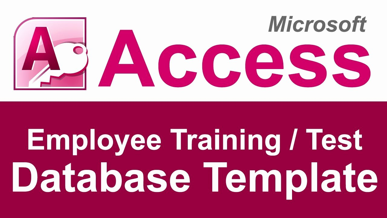 Microsoft Access Scheduling Template Lovely Employee Training and Test Tracking Database Template