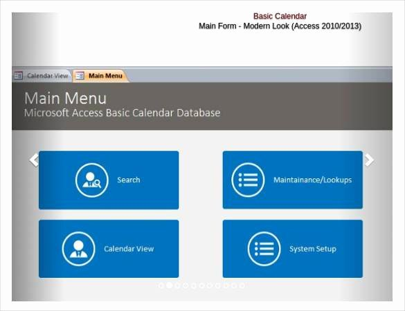 Microsoft Access Scheduling Template New 18 Free Access Database Template
