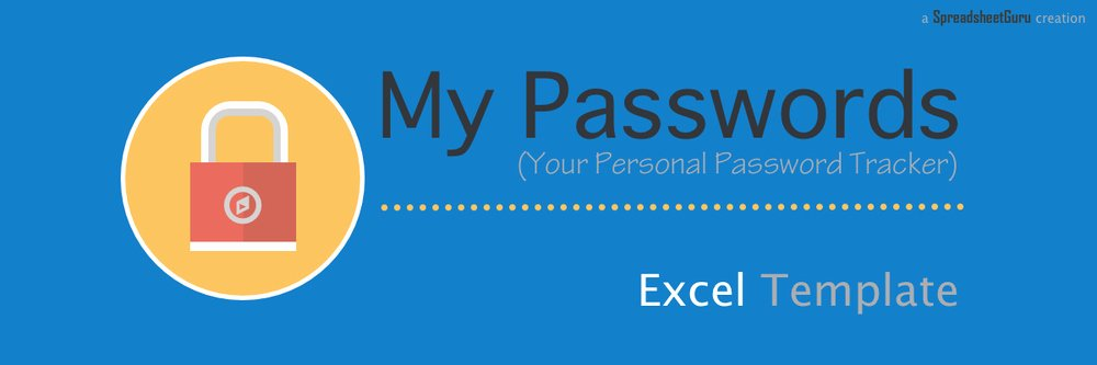 Microsoft Excel Password Template Beautiful My Passwords Your Personal Password Tracker — the