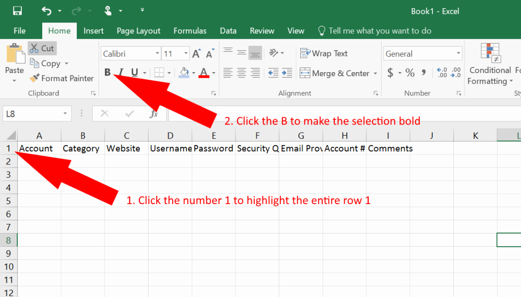 Microsoft Excel Password Template Elegant How to Use Excel as A Password Keeper Free Template