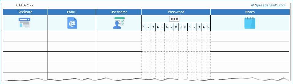 Microsoft Excel Password Template Luxury Microsoft Excel Password Template Lovely My Passwords Your
