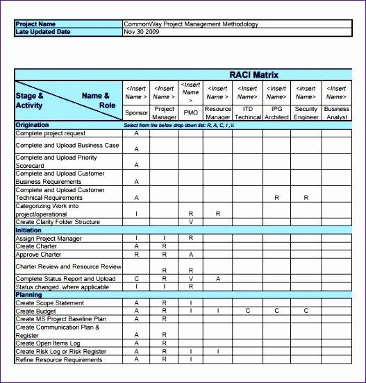 Microsoft Excel Raci Template Lovely 10 Raci Template Excel Free Exceltemplates Exceltemplates