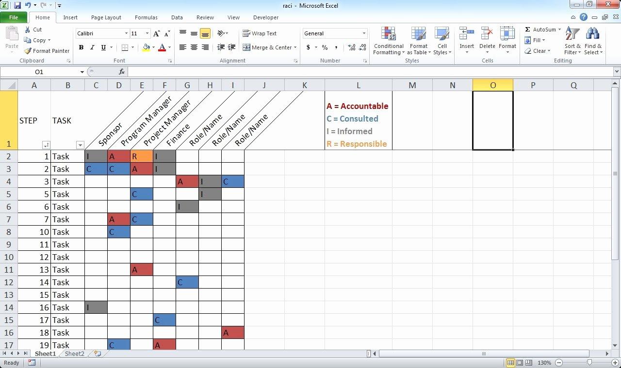 Microsoft Excel Raci Template Lovely Microsoft Excel Raci Template Easily Create A Raci Chart