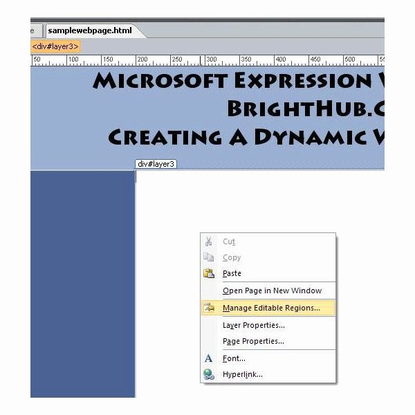 Microsoft Expression Web Template Fresh How to Create A Dynamic Web Template In Microsoft