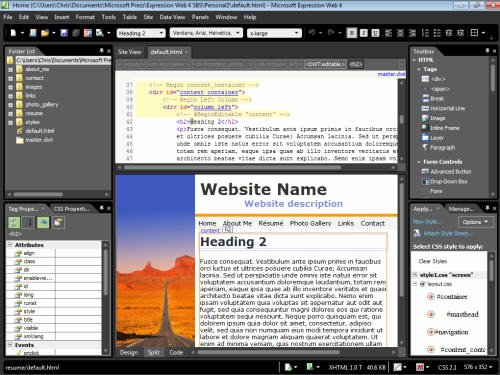 Microsoft Expression Web Template New Expression Web Step by Step Chapter2