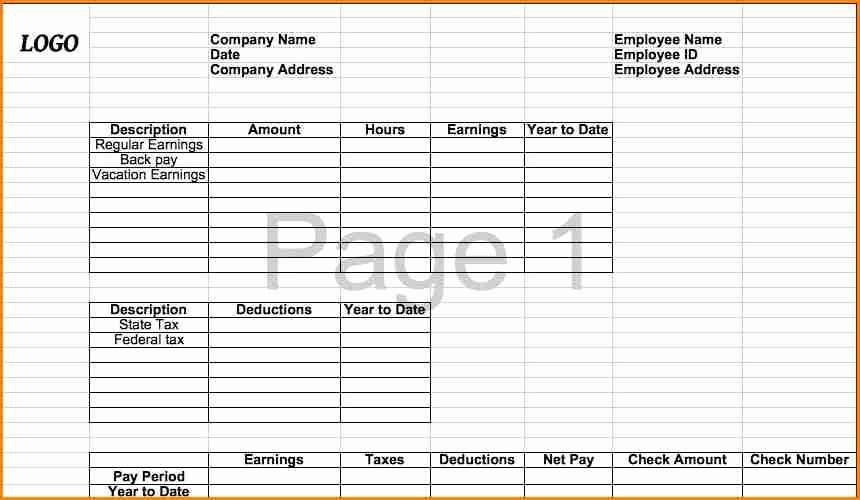 Microsoft Office Check Template Awesome 6 Pay Stub Template Microsoft Office