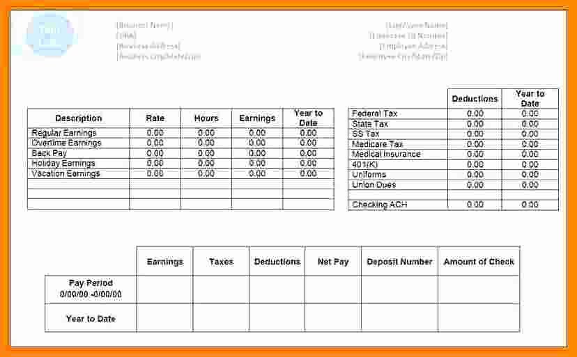 Microsoft Office Check Template Awesome 8 Payroll Check Template Free