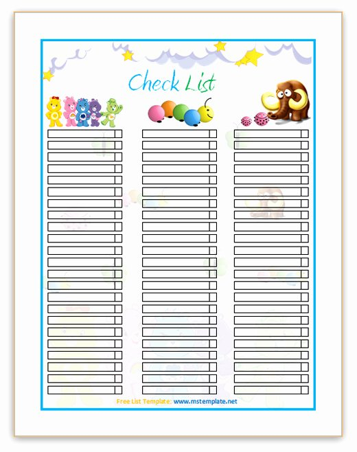 Microsoft Office Check Template Awesome Checklist Template