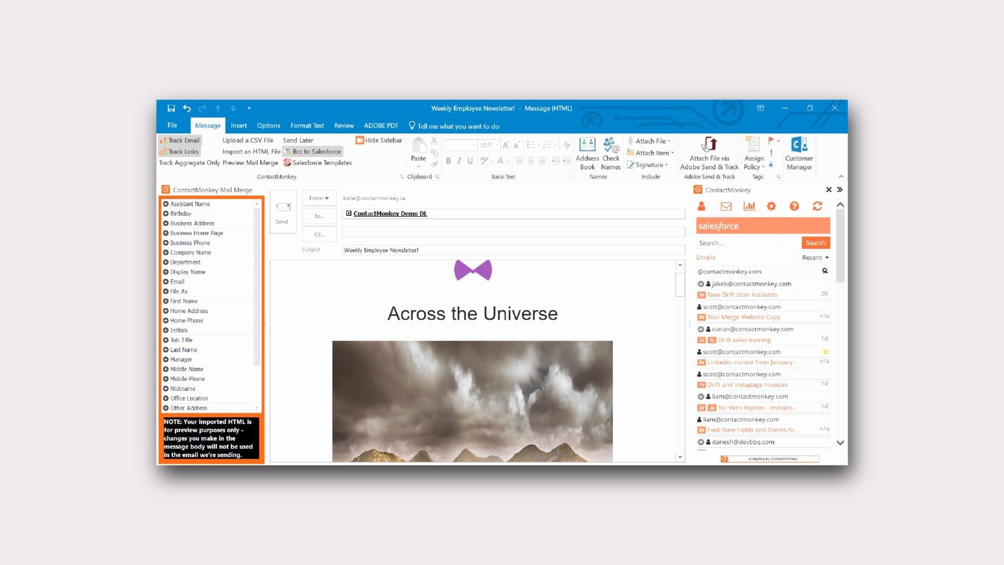Microsoft Outlook Newsletter Template Best Of Newsletter In Outlook Send Responsive HTML Employee