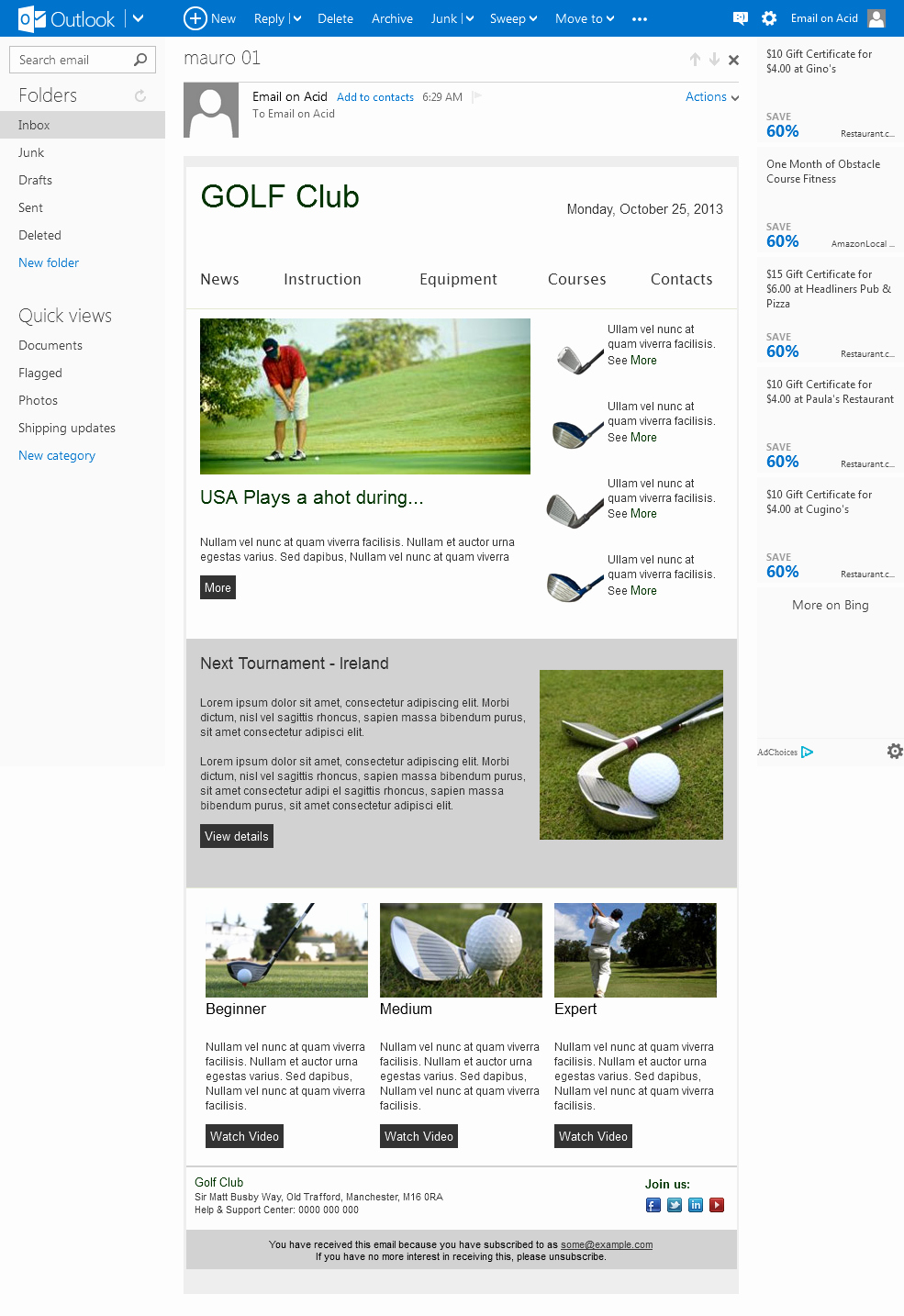 Microsoft Outlook Newsletter Template Elegant Email Newsletter Template Patibility Test