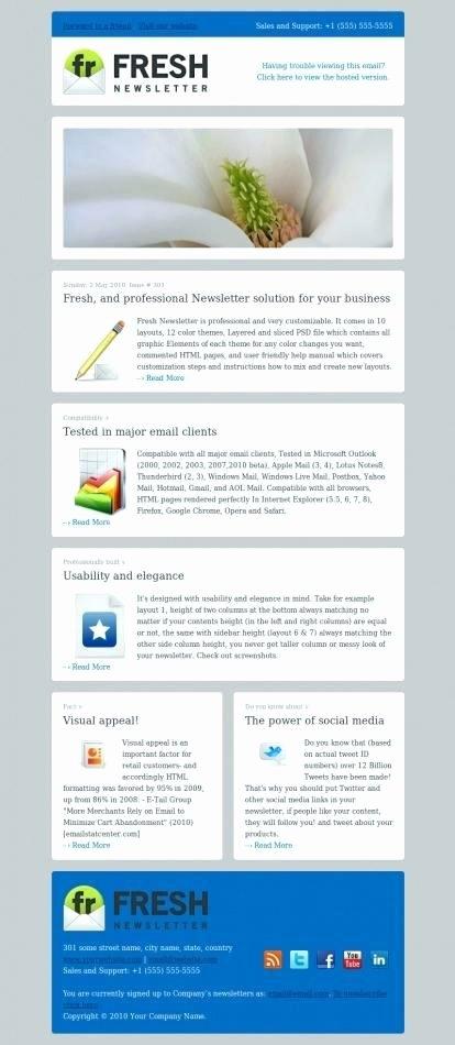 Microsoft Outlook Newsletter Template Elegant Outlook Newsletter Template Create Email E Templates