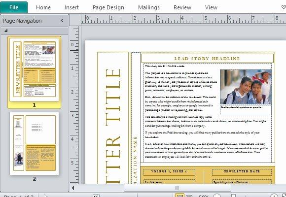 Microsoft Outlook Newsletter Template Lovely Free Newsletter Templates