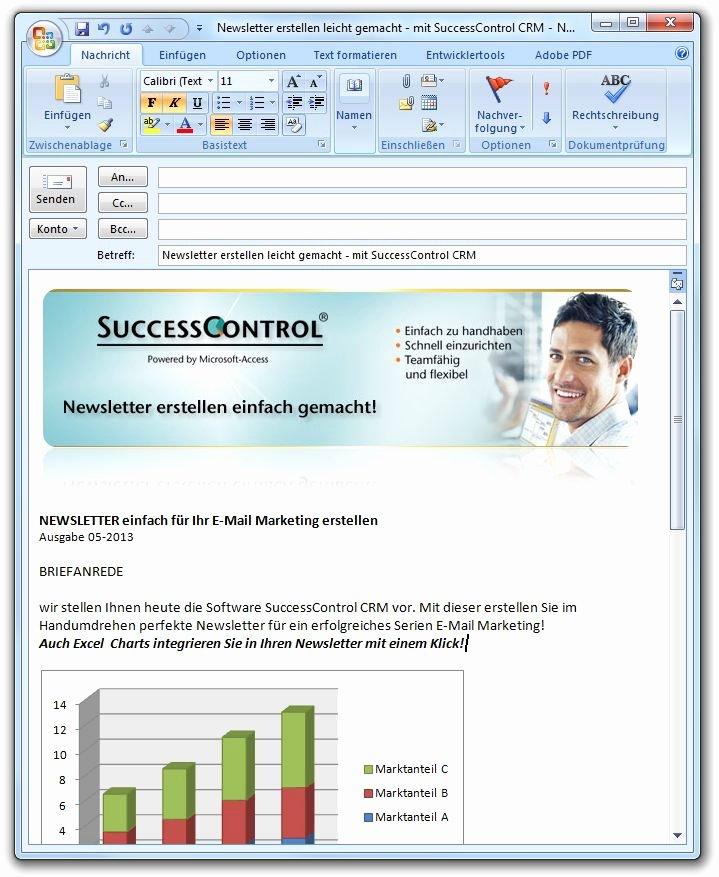 Microsoft Outlook Newsletter Template Luxury Outlook Newsletter Erstellen Mit Bildern Grafiken Und