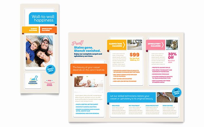 Microsoft Publisher Booklet Template Fresh Carpet Cleaning Brochure Template Word & Publisher