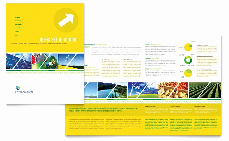 Environmental Conservation Brochure Templates UT D