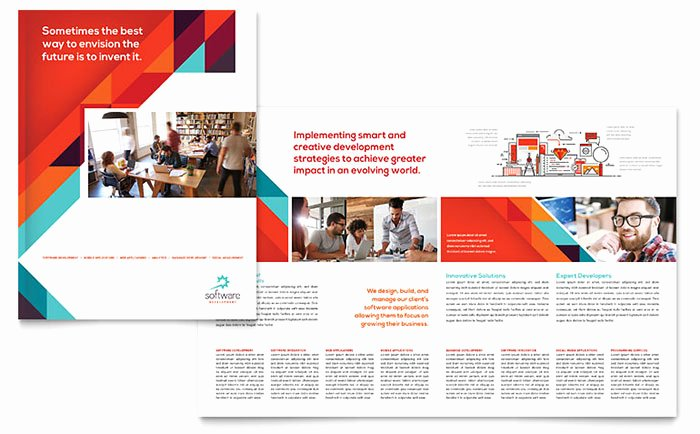 Microsoft Publisher Booklet Template Unique Application software Developer Brochure Template Word