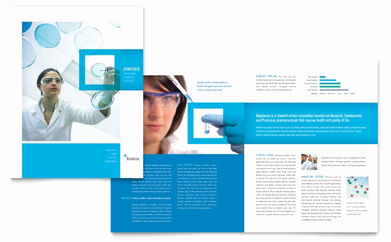 Microsoft Publisher Brochure Template Awesome Science & Chemistry Brochure Template Word & Publisher