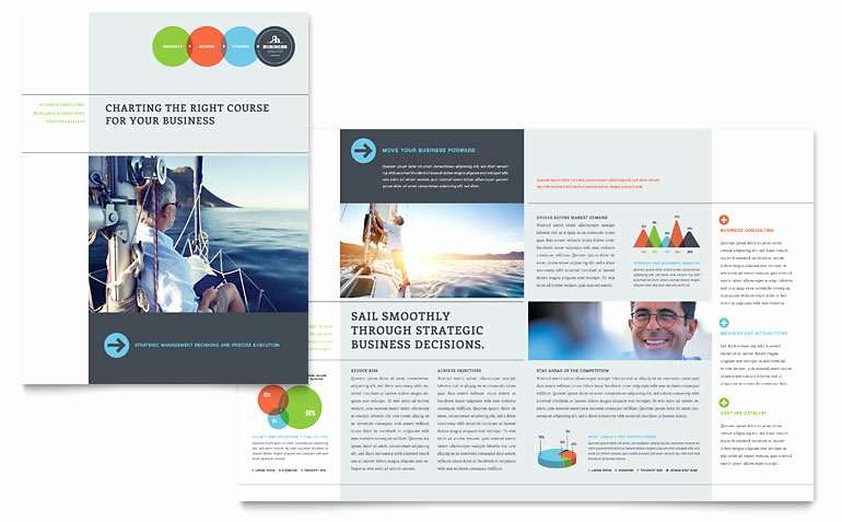 Microsoft Publisher Brochure Template Beautiful Business Analyst Brochure Template Word & Publisher