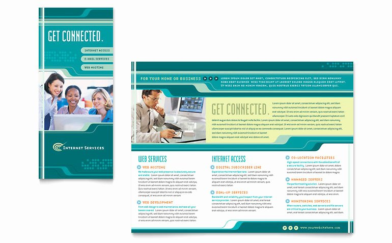Microsoft Publisher Brochure Template Best Of Internet Service Provider Brochure Template Word & Publisher