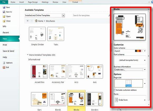 Microsoft Publisher Brochure Template Fresh Making and Publishing Brochures with Publisher