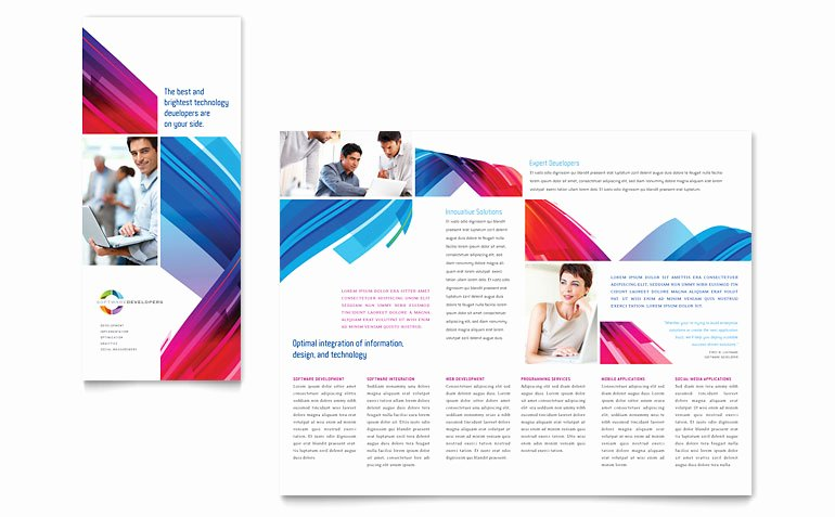 Microsoft Publisher Brochure Template Luxury software solutions Tri Fold Brochure Template Word