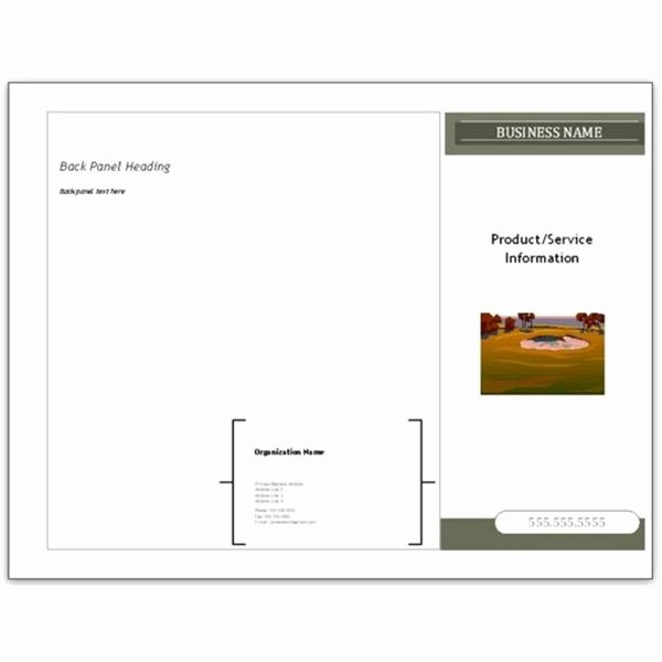 Microsoft Publisher Brochure Template Unique 10 Microsoft Publisher Brochure Golf Template Options