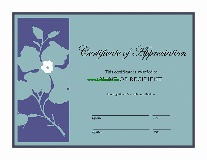 Microsoft Publisher Certificate Template Inspirational Certificate Of Appreciation Microsoft Publisher Templates