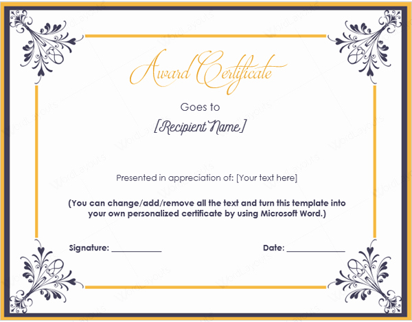 Microsoft Publisher Certificate Template Lovely Printable Microsoft Publisher Award Certificate Templates