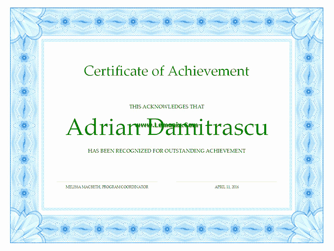 Microsoft Publisher Certificate Template Luxury Achievement Fice Templates for Ms Fice software