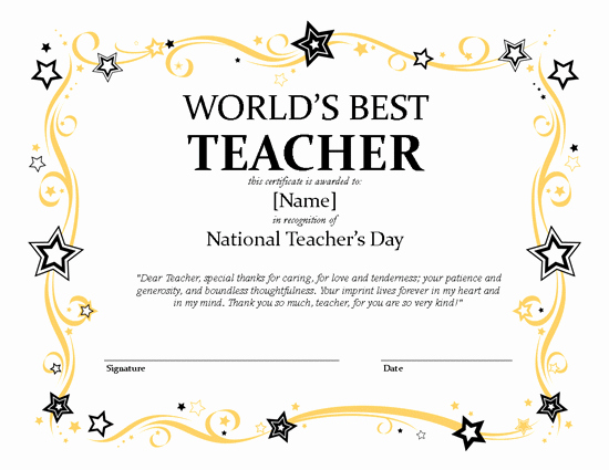 Microsoft Publisher Certificate Template Unique National Teacher's Day Certificate – Microsoft Publisher