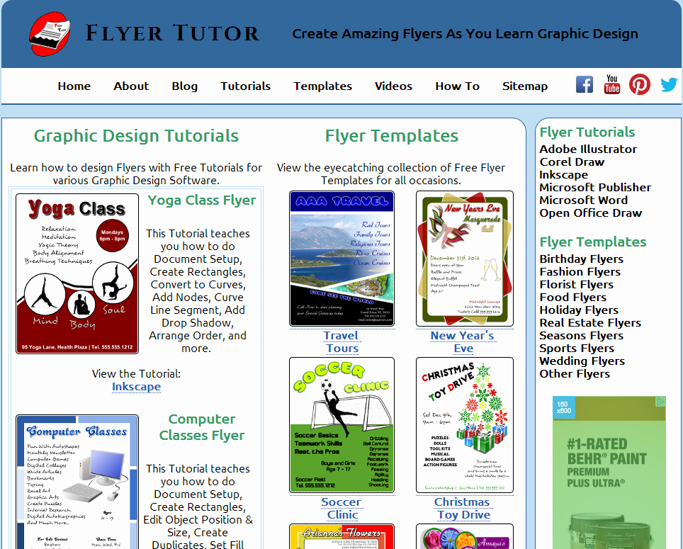 Microsoft Publisher Website Template Fresh Website that Teaches Flyer Creation with Corel Draw