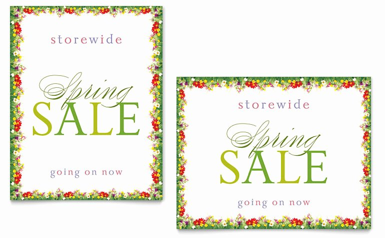 Microsoft Word Banner Template Best Of Floral Border Sale Poster Template Word & Publisher