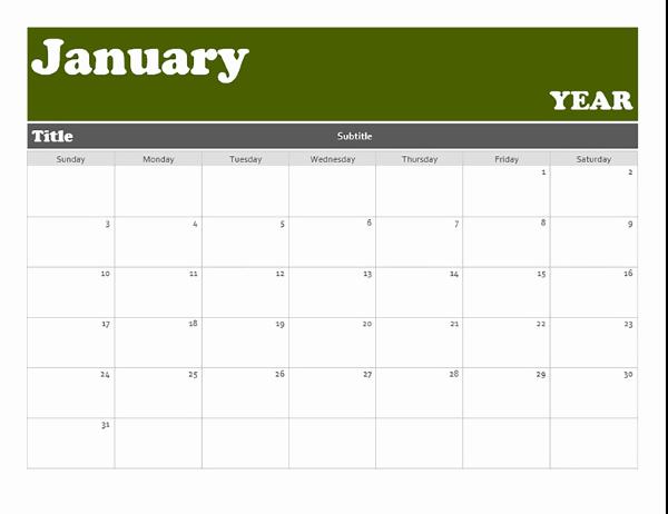 Microsoft Word Banner Template New Banner Calendar