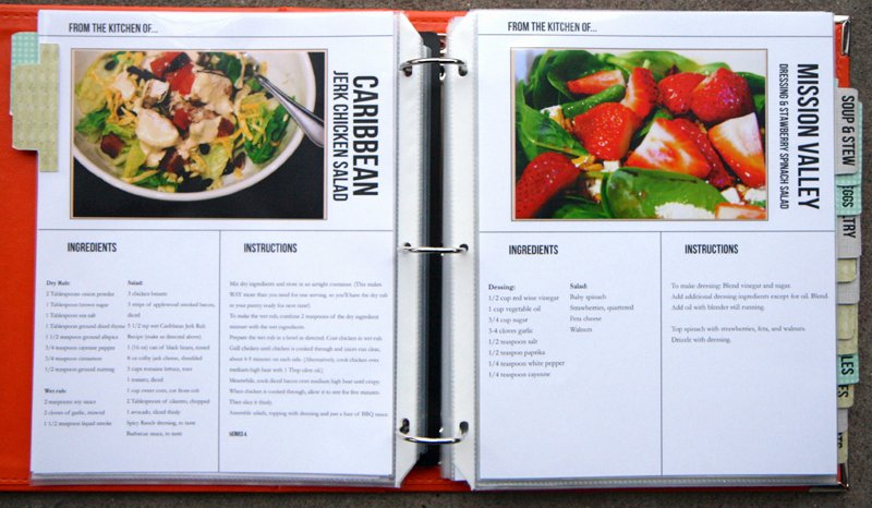 post free printable cookbook templates 8166