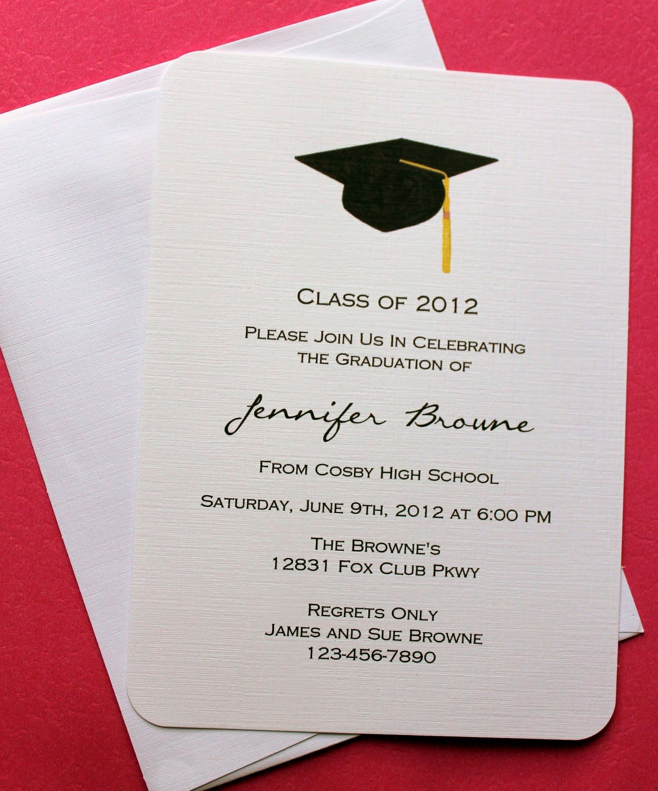 Microsoft Word Invitation Template Awesome Graduation Invitation Template Graduation Invitation