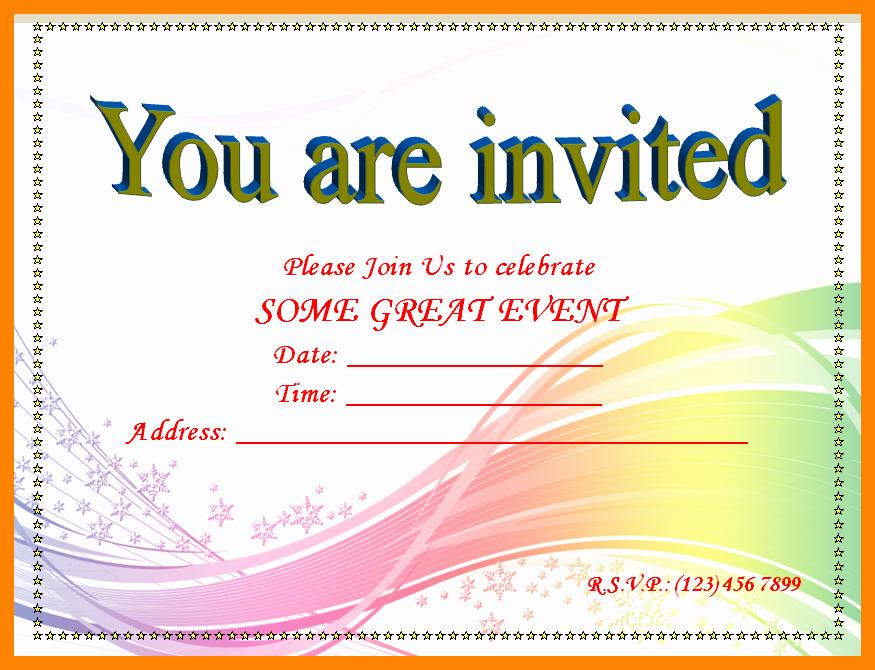 Microsoft Word Invitation Template Elegant 15 Birthday Invitation Template Word