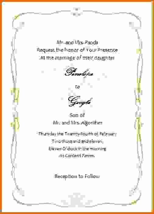 Microsoft Word Invitation Template Fresh Microsoft Word Wedding Invitation Templatesreference