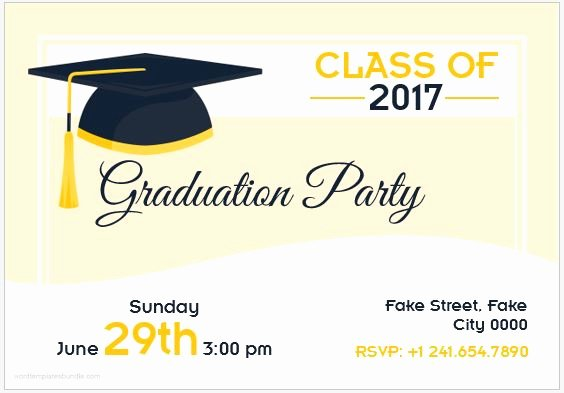 Microsoft Word Invitation Template Luxury 10 Best Graduation Party Invitation Card Templates Ms Word