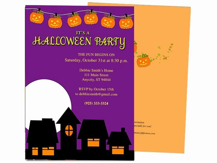 Microsoft Word Invitation Template Luxury Halloween Invitation Templates Microsoft Word – Festival