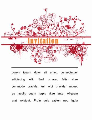 Microsoft Word Invitation Template Unique 12 Best S Of event Invitation Word Template Party