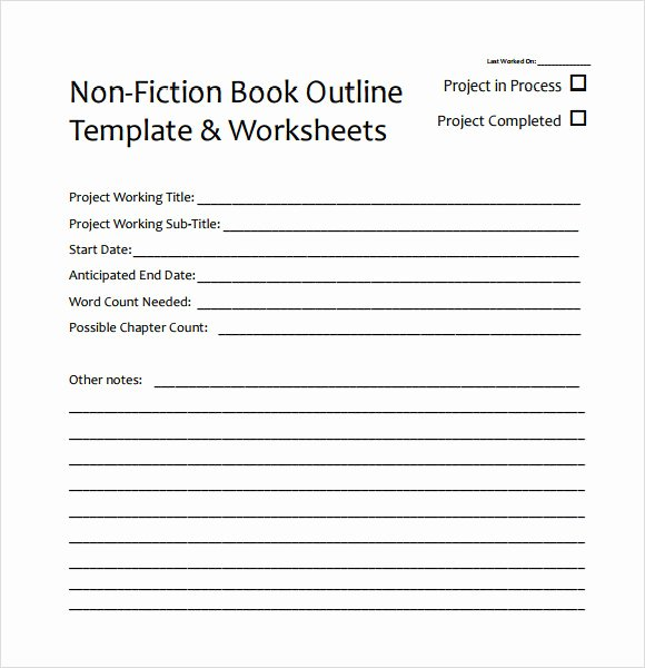 Microsoft Word Outline Template Fresh 8 Useful Book Outline Templates to Download