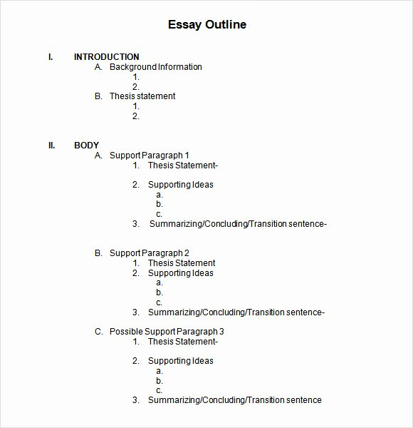Microsoft Word Outline Template New 6 Sample Blank Outline Templates