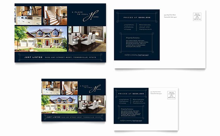 Microsoft Word Postcard Template Elegant Luxury Home Real Estate Postcard Template Word & Publisher