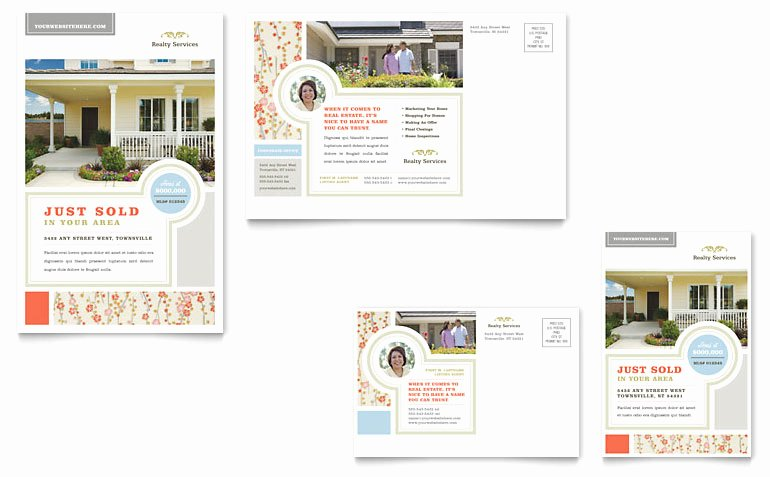 Microsoft Word Postcard Template Elegant Real Estate Home for Sale Postcard Template Word & Publisher