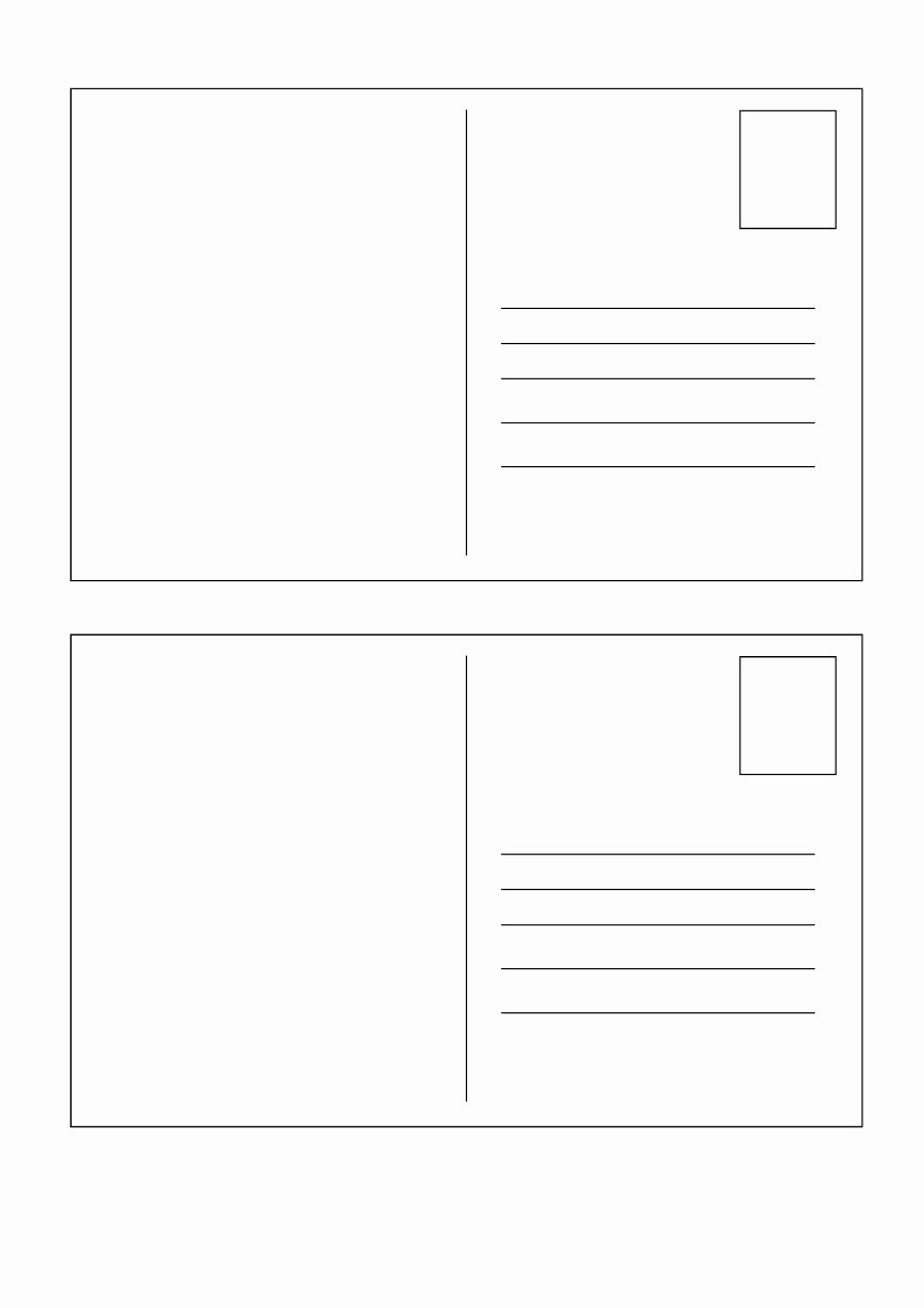 Microsoft Word Postcard Template Fresh 40 Great Postcard Templates & Designs [word Pdf]
