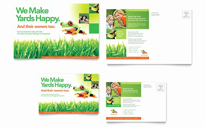 Microsoft Word Postcard Template Inspirational Lawn Maintenance Postcard Template Design
