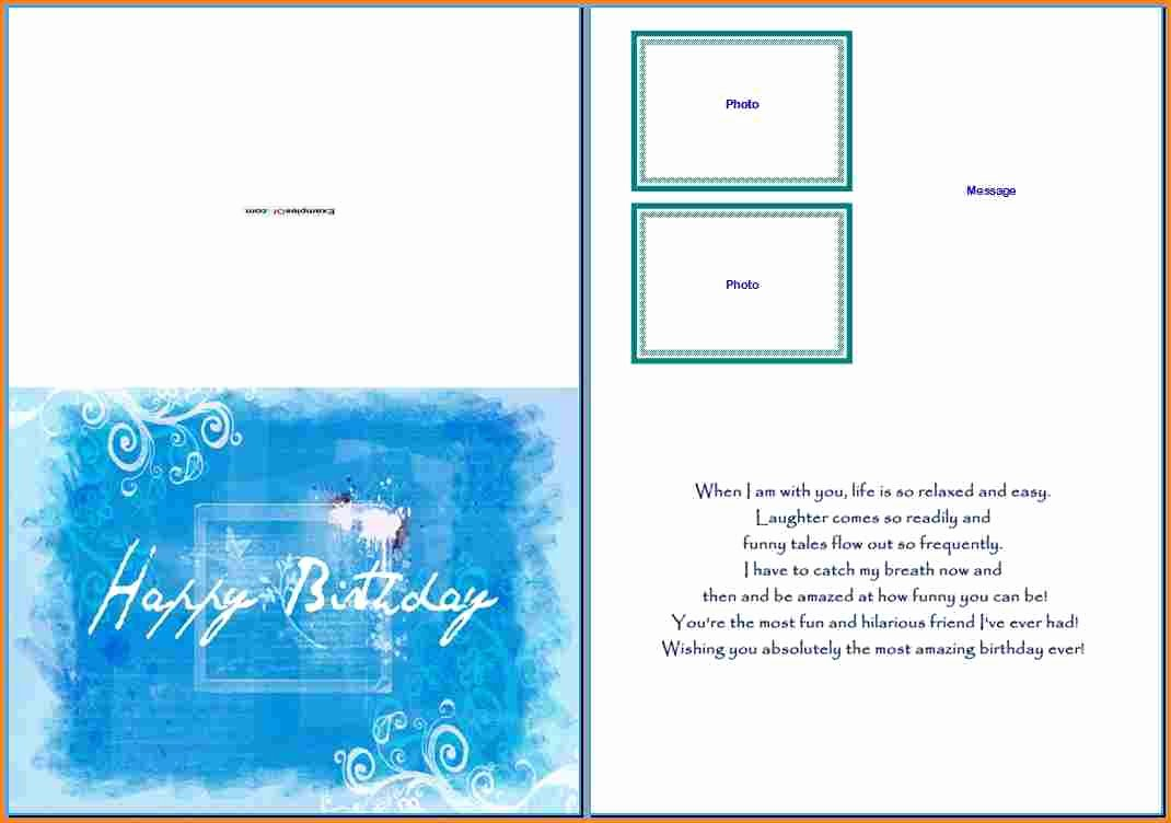 Microsoft Word Postcard Template Luxury Birthday Card Layout for Word Happy Birthday Wishes