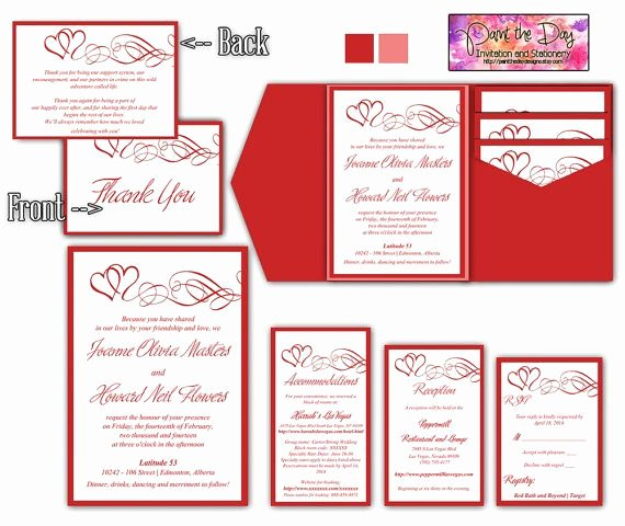 Microsoft Word Postcard Template Unique Double Heart Swirls 5x7 Wedding Pocketfold Microsoft Word