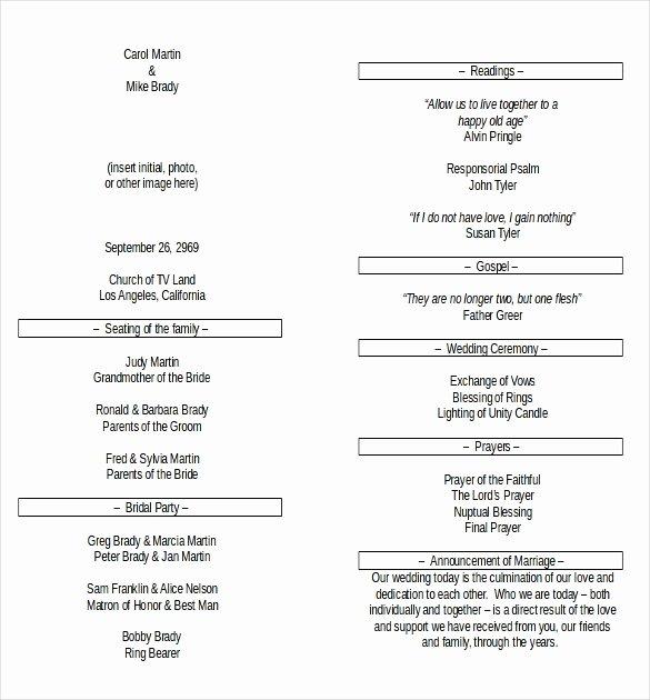 Microsoft Word Program Template Beautiful Wedding Program Templates – 15 Free Word Pdf Psd