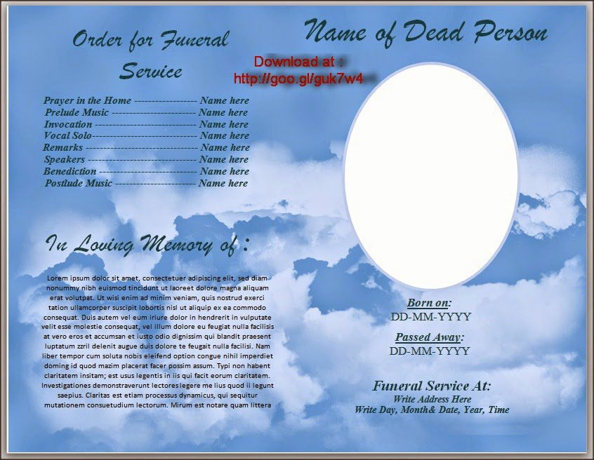 Microsoft Word Program Template Fresh Funeral Program Template Search Results
